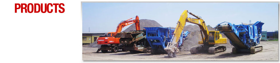 Products - Excavator and trucks